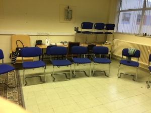 Chairs patiently waiting for the 12 lucky sonos who were treated to this educational training!