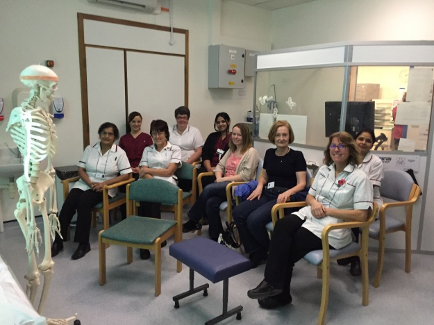 Sonographers At Milton Keynes Hospital gathering for our #SelfCareSkills training afternoon.